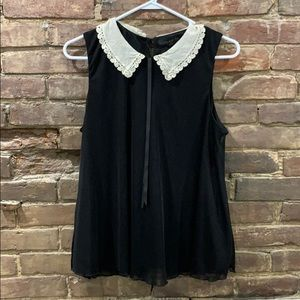 Topshop Lace collar tank- size 8